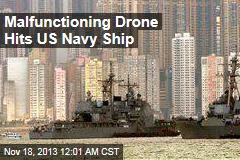 Navy Ship Hit by Drone Back in Port