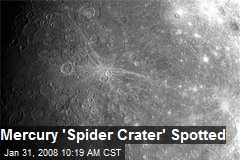 Mercury &#39;Spider Crater&#39; Spotted