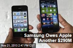 Judge Rules Samsung Owes Apple $290M