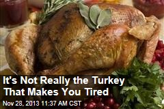 It's Not Really the Turkey That Makes You Tired