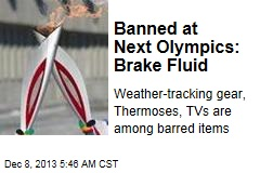Banned at Next Olympics: Brake Fluid