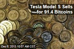Tesla Model S Sells —for 91.4 Bitcoins