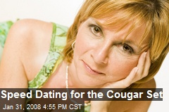Cougar speed dating ny