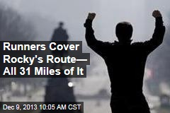 Runners Cover Rocky's Route— All 31 Miles of It