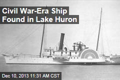 Civil War-Era Ship Found in Lake Huron
