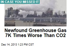 Newfound Greenhouse Gas 7K Times Worse Than CO2