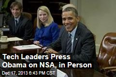 Tech Leaders Press Obama on NSA