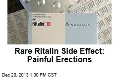 Rare Ritalin Side Effect: Painful Erections