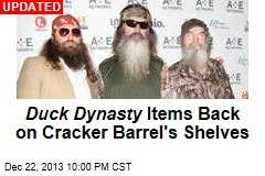 Duck Dynasty Items Off Shelves at Cracker Barrel