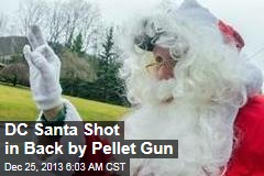 DC Santa Shot in Back By Pellet Gun