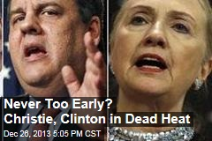 Never Too Early? Christie, Clinton in Dead Heat