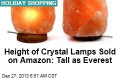 Height of Crystal Lamps Sold on Amazon: Tall as Everest