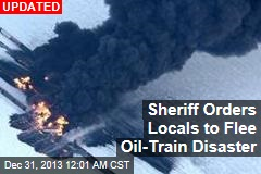 'Sky Totally Black': Oil Train Derails, Explodes in ND