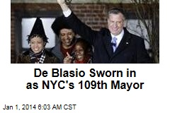 De Blasio Sworn in as NYC's 109th Mayor
