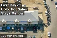 First Day of Colo. Pot Sales Stays Mellow