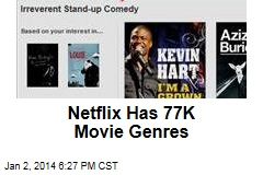 Netflix Has 77K Movie Genres
