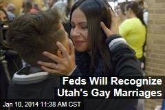 Feds Will Recognize Utah's Gay Marriages