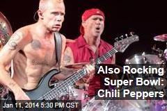 Also Rocking Super Bowl: Chili Peppers