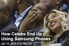 How Celebs End Up Using Samsung Phones