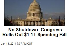 No Shutdown: Congress Rolls Out $1.1T Spending Bill