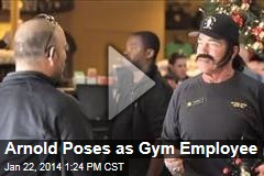 Arnold Poses as Gym Employee