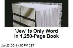 New Book Contains One Word: 'Jew'