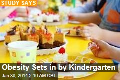Obesity Sets in by Kindergarten