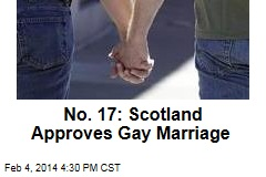 No. 17: Scotland Approves Gay Marriage