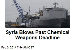 Syria Blows Past Chemical Weapons Deadline