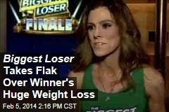 Biggest Loser Takes Flak Over Winner's Huge Weight Loss