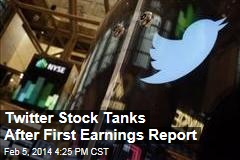 Twitter Stock Tanks After First Earnings Report