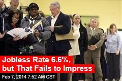Jobless Rate 6.6%, but That Fails to Impress