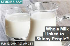 Whole Milk Linked to ... Skinny People?