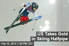 US Takes Gold in Skiing Halfpipe