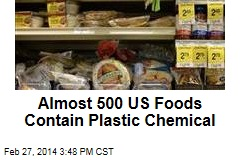 Almost 500 US Food Products Contain Plastic Chemical