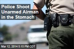 Police Shoot Unarmed Airman in Stomach by Freeway