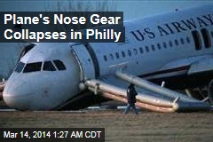 Plane's Nose Gear Collapses in Aborted Philly Takeoff