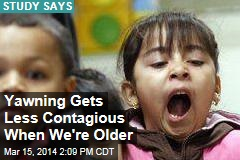 Yawning Gets Less Contagious When We're Older