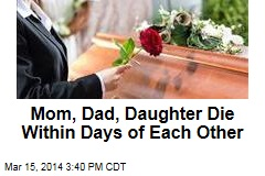 Mom, Dad, Daughter Die Within Days of Each Other