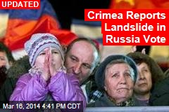 Crimea Exit Poll: 93% Want Union With Russia
