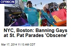 NYC, Boston: Banning Gays at St. Pat Parades 'Obscene'