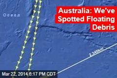 Australia: We've Spotted Floating Debris