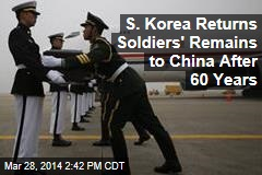 S. Korea Returns Soldiers' Remains to China After 60 Years
