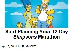 Start Planning Your 12-Day Simpsons Marathon