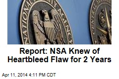 Report: NSA Knew of Heartbleed Flaw for 2 Years