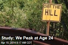 Study: We Peak at Age 24