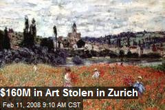 $160M in Art Stolen in Zurich