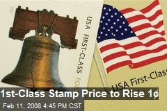 1st-Class Stamp Price to Rise 1&amp;cent;