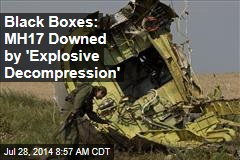 Black Boxes: MH17 Downed by 'Explosive Decompression'
