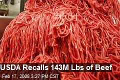 USDA Recalls 143M Lbs of Beef